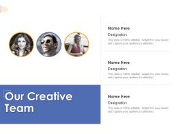 Our Creative Team Communication K332 Ppt Powerpoint Presentation Info Example