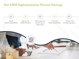 Our CRM Implementation Process Strategy Ppt Powerpoint Presentation Good