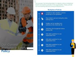 Our Current Workplace Safety Policy Ppt Powerpoint Presentation Outline Images
