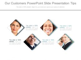 Our Customers Powerpoint Slide Presentation Tips