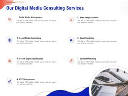 Our Digital Media Consulting Services Ppt Clipart
