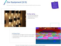 Our Equipment Illumination Ppt Powerpoint Presentation Introduction
