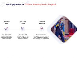 Our Equipments For Pressure Washing Service Proposal Ppt Powerpoint Presentation Show