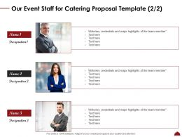 Our Event Staff For Catering Proposal Template Ppt Powerpoint Infographic Template