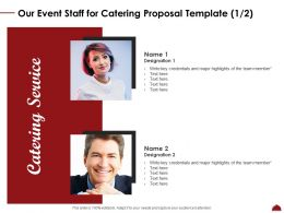 Our Event Staff For Catering Proposal Template Teamwork Ppt Powerpoint Download