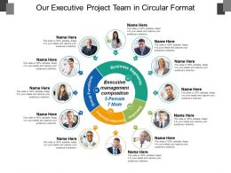 Our Executive Project Team In Circular Format