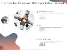 Our Expertise Conversion Rate Optimization Proposal Ppt Powerpoint Presentation Professional Example