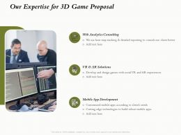 Our Expertise For 3D Game Proposal Ppt Powerpoint Presentation Summary Backgrounds