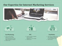 Our Expertise For Internet Marketing Services Ppt Powerpoint Presentation Gallery Show