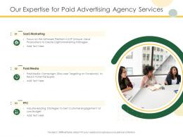 Our Expertise For Paid Advertising Agency Services Ppt Powerpoint Presentation Infographic