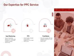 Our Expertise For PPC Service Ppt Powerpoint Presentation Slides Professional