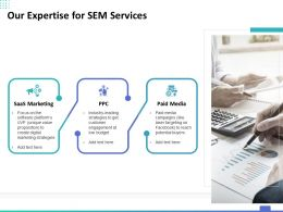 Our Expertise For SEM Services Ppt Powerpoint Presentation Inspiration Maker