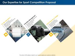 Our Expertise For Sport Competition Proposal Ppt Powerpoint Presentation Pictures