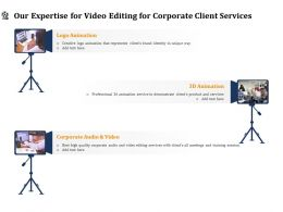 Our Expertise For Video Editing For Corporate Client Services Ppt Inspiration