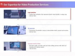 Our Expertise For Video Production Services Ppt Template