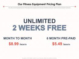 Our Fitness Equipment Pricing Plan Ppt Clipart