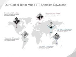 Our Global Team Map Ppt Samples Download