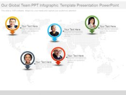 Our Global Team Ppt Infographic Template Presentation Powerpoint