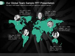 Our Global Team Sample Ppt Presentation