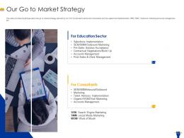Our Go To Market Strategy Edtech Ppt Ideas Picture
