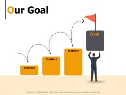 Our Goal Achievement Growth K20 Ppt Powerpoint Presentation Show Maker