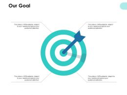 Our Goal And Arrows F686 Ppt Powerpoint Presentation Pictures Display