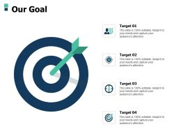 Our Goal Arrow A502 Ppt Powerpoint Presentation Infographics Pictures