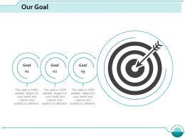 Our Goal Arrow Competition Ppt Slides Design Templates
