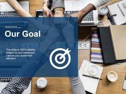 Our Goal Arrow Competition Ppt Visual Aids Background Images