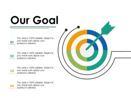 Our Goal Arrow Ppt Infographics Example Introduction