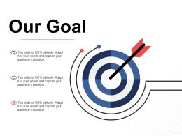 Our Goal Arrow Ppt Inspiration Design Inspiration