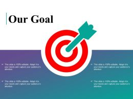 Our Goal Arrow Ppt Powerpoint Presentation File Deck
