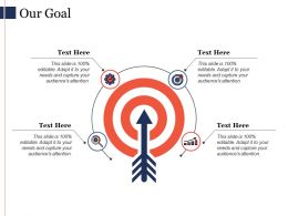 Our Goal Arrow Ppt Powerpoint Presentation File Infographics