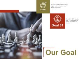 Our Goal Arrow Ppt Powerpoint Presentation File Outline