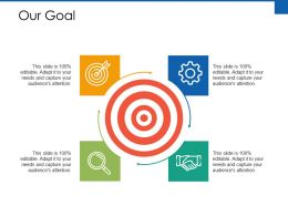 Our Goal Arrow Ppt Powerpoint Presentation Infographics