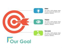 Our Goal Arrow Ppt Powerpoint Presentation Layouts Rules