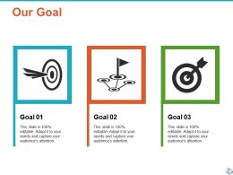 Our Goal Arrow Ppt Show Infographic Template