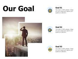 Our Goal Arrow Success A835 Ppt Powerpoint Presentation Gallery Grid