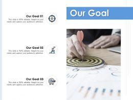 Our Goal Arrow Target E292 Ppt Powerpoint Presentation Slides Guide