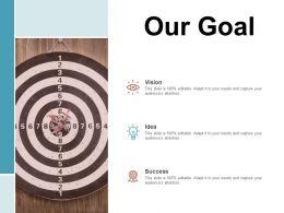 Our Goal Arrows C1043 Ppt Powerpoint Presentation Slides Mockup
