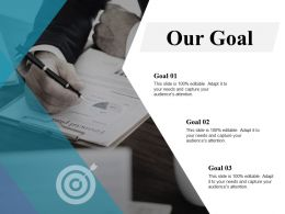 Our Goal Arrows C334 Ppt Powerpoint Presentation Layouts Samples