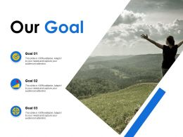 Our Goal Arrows Growth C170 Ppt Powerpoint Presentation File Slideshow