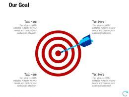 Our Goal Arrows L812 Ppt Powerpoint Presentation Infographics Slides