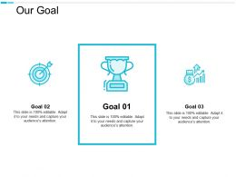 Our Goal Arrows Management C659ppt Powerpoint Presentation Portfolio Design Ideas