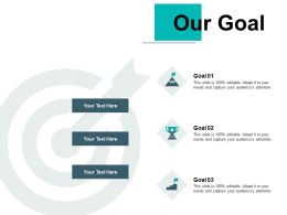 Our Goal Arrows Management C776 Ppt Powerpoint Presentation Templates