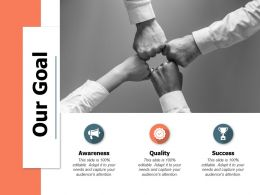 Our Goal Awareness A551 Ppt Powerpoint Presentation Gallery Layout Ideas