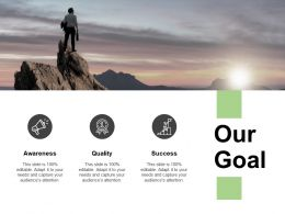 Our Goal Awareness Quality K377 Powerpoint Presentation Samples