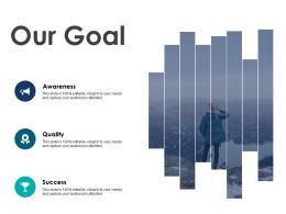 Our Goal Awareness Success F46 Ppt Powerpoint Presentation Styles Grid