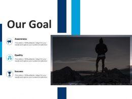 Our Goal Awareness Success F711 Ppt Powerpoint Presentation Outline Portrait