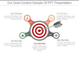 Our Goal Content Sample Of Ppt Presentation